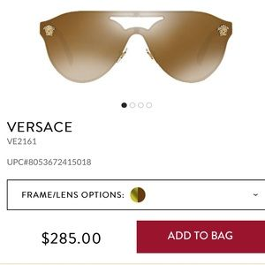 Brand new, never worn Versace sunglasses